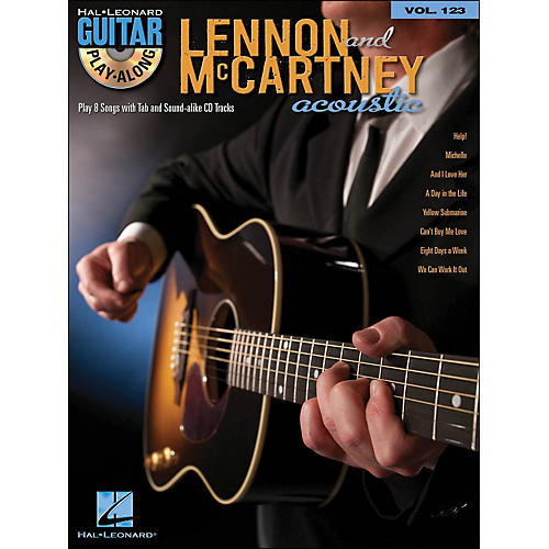 Hal Leonard Lennon & Mccartney Acoustic - Guitar Play-Along Volume 123 (Book/CD)-thumbnail