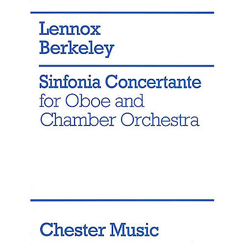 Music Sales Lennox Berkeley: Sinfonia Concertante Op.84 (Oboe/Piano) Music Sales America Series-thumbnail