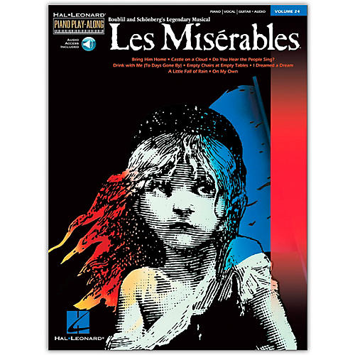 Hal Leonard Les Miserables Volume 24 Book/CD Piano Play-Along arranged for piano, vocal, and guitar (P/V/G)