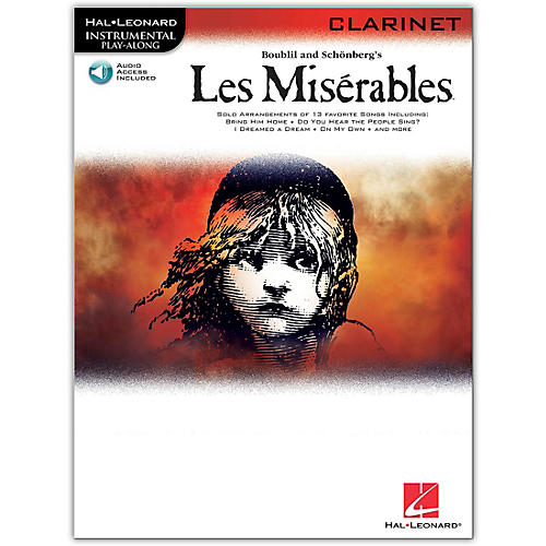 Hal Leonard Les Miserables for Clarinet -Instrumental Play-Along Book/CD