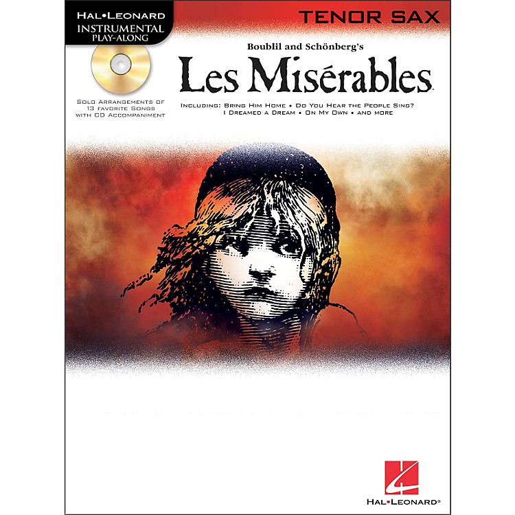 Hal LeonardLes Miserables for Tenor Sax - Instrumental Play-Along Book/CD