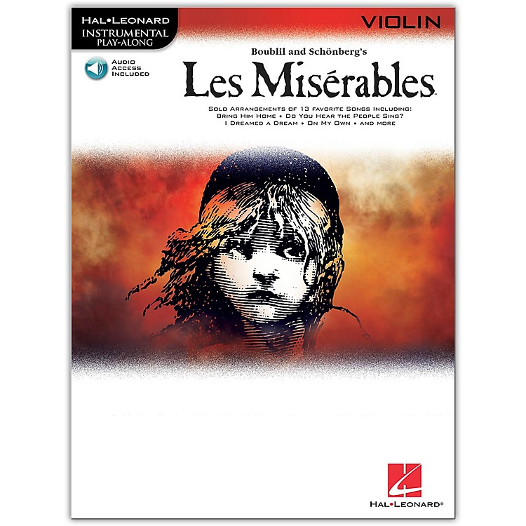 Hal Leonard Les Miserables for Violin - Instrumental Play-Along Book/CD