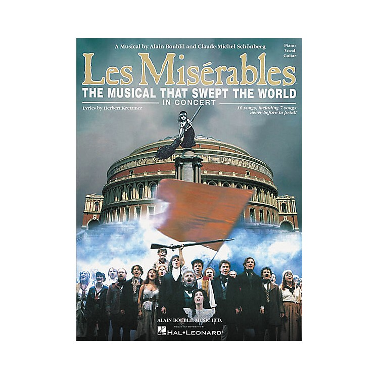Hal Leonard Les Miserables in Concert Vocal Selections Book