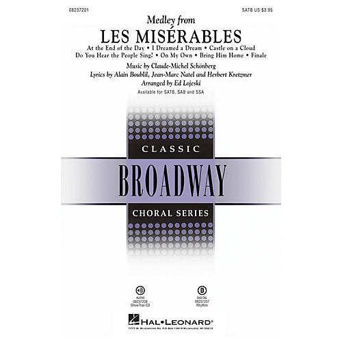 Hal Leonard Les Misérables (Choral Medley) Digital Instrumental Pak Rhyth Arranged by Ed Lojeski