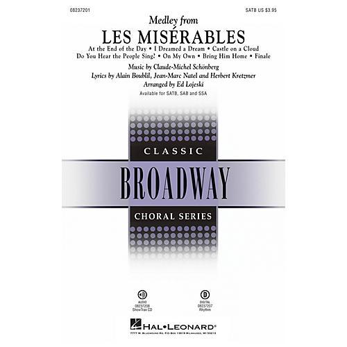 Hal Leonard Les Misérables (Choral Medley) ShowTrax CD Arranged by Ed Lojeski