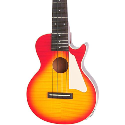 Epiphone Les Paul Acoustic-Electric Concert Ukulele Outfit Heritage Cherry Sunburst