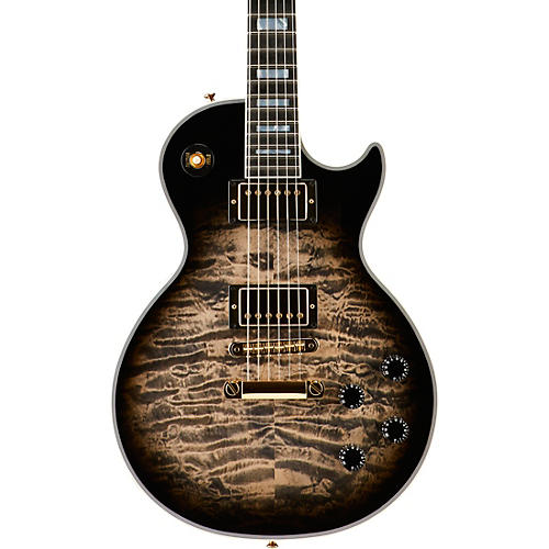 Gibson Custom Les Paul Custom 3A Quilt Top with Gold Hardware Electric Guitar-thumbnail