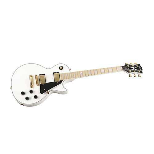 Gibson Custom Les Paul Custom Electric Guitar with Maple Fingerboard (Alpine White)