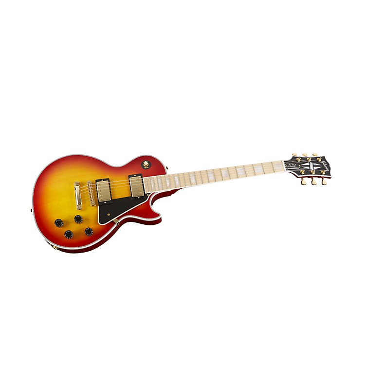 Gibson Custom Les Paul Custom Electric Guitar with Maple Fingerboard (Heritage Sunburst)