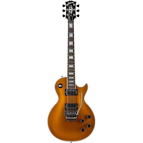 Gibson Custom Les Paul Custom Goldtop with Floyd Rose Electric Guitar Antique Gold