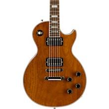 Les Paul Custom Mahogany Top Electric Guitar Walnut Stain