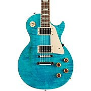 Les Paul Custom Pro Electric Guitar Aqua Blue