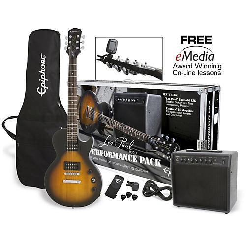 Epiphone Les Paul Electric Guitar Performance Pack Vintage Sunburst