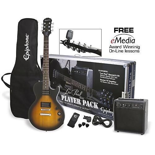 Epiphone Les Paul Electric Guitar Player Pack Vintage Sunburst