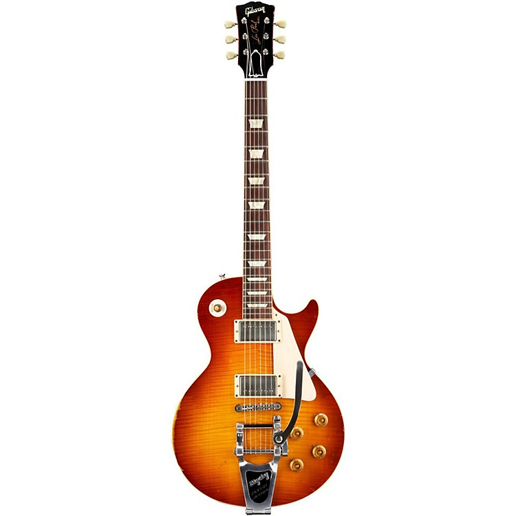 Gibson Custom Les Paul Reissue Ultra-Aged 1959 Murphy Electric Guitar with Bigsby Aged Sunburst
