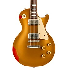 Les Paul Standard Limited Run - Solid Body Electric Guitar Aztec Gold over 3-Color Sunburst Aged White Pearl Pickguard