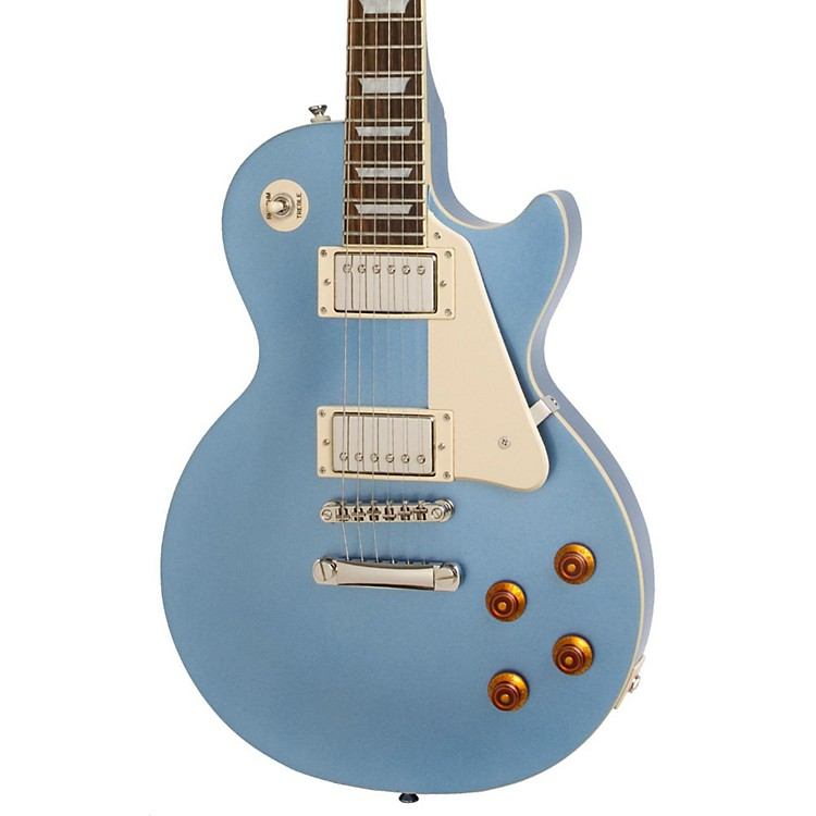 Epiphone Les Paul Standard Plain Top Electric Guitar Pelham Blue