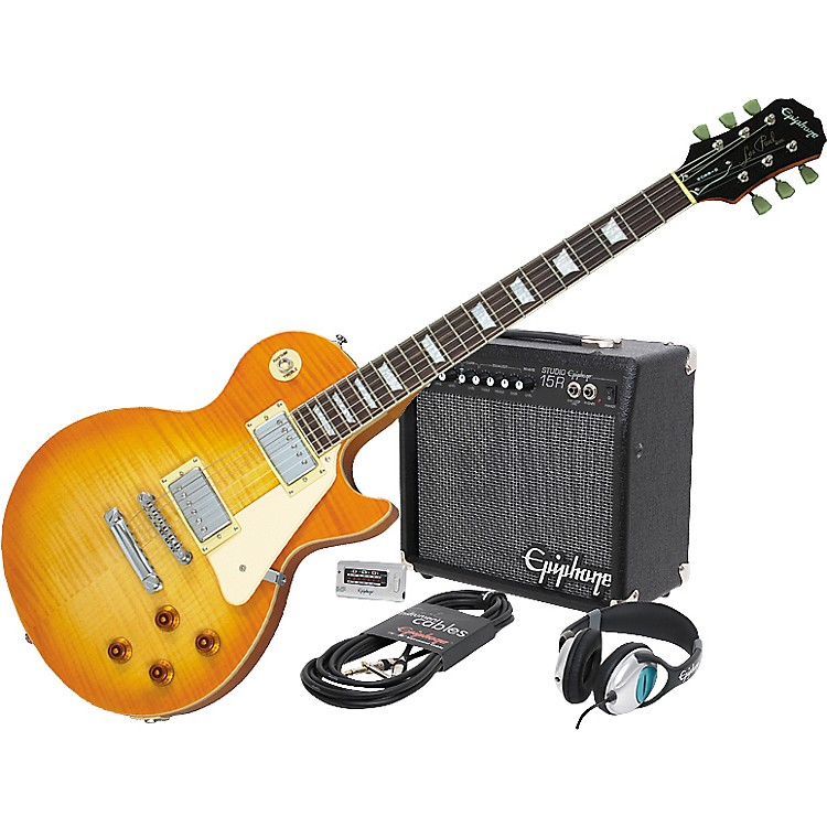 EpiphoneLes Paul Standard Plus Top and All Access Amp Pack