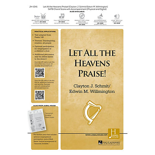 Jubal House Publications Let All the Heavens Praise! Accompaniment CD Composed by Clayton J. Schmit-thumbnail