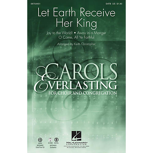 Hal Leonard Let Earth Receive Her King CHOIRTRAX CD Arranged by Keith Christopher-thumbnail