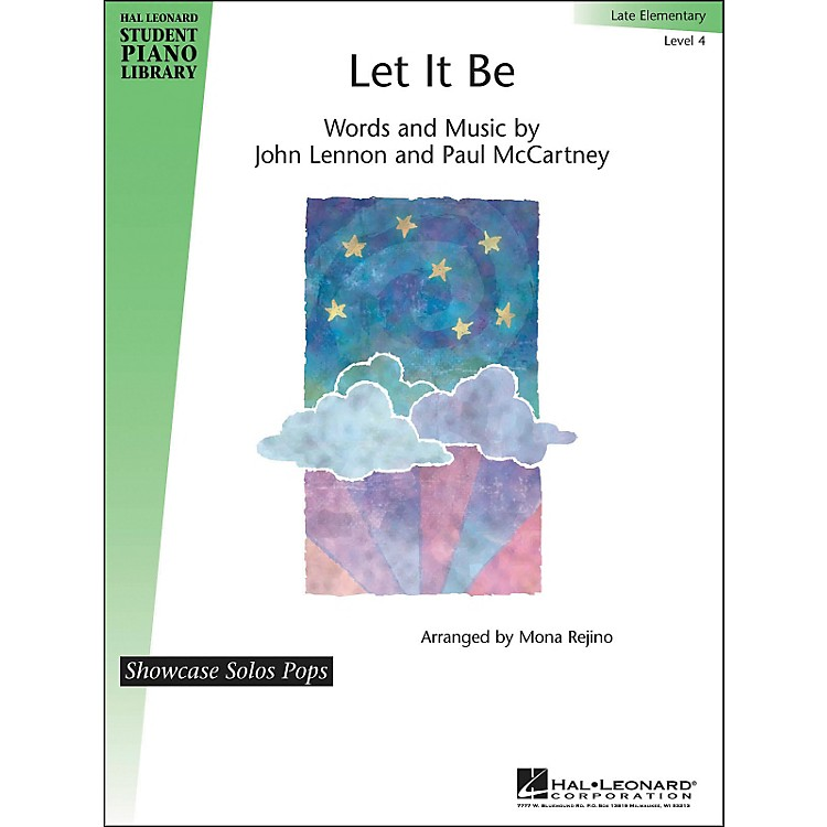 Hal Leonard Let It Be - Showcase Solos Level 4 Hal Leonard Student Piano Library by Mona Rejino