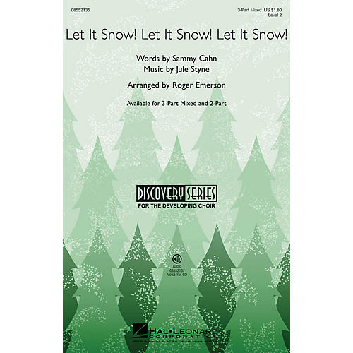 Hal Leonard Let It Snow! Let It Snow! Let It Snow! (Discovery Level 2) 3-Part Mixed arranged by Roger Emerson-thumbnail
