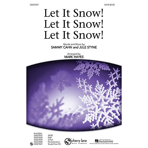 Shawnee Press Let It Snow! Let It Snow! Let It Snow! ORCHESTRA ACCOMPANIMENT Arranged by Mark Hayes-thumbnail