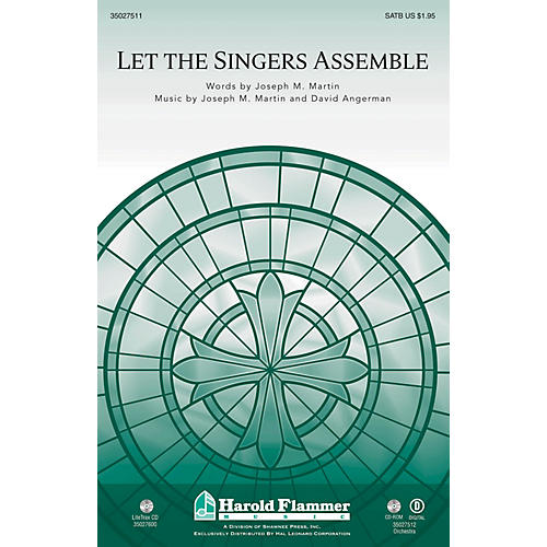 Shawnee Press Let the Singers Assemble BRASS/PERCUSSION PARTS Composed by David Angerman-thumbnail
