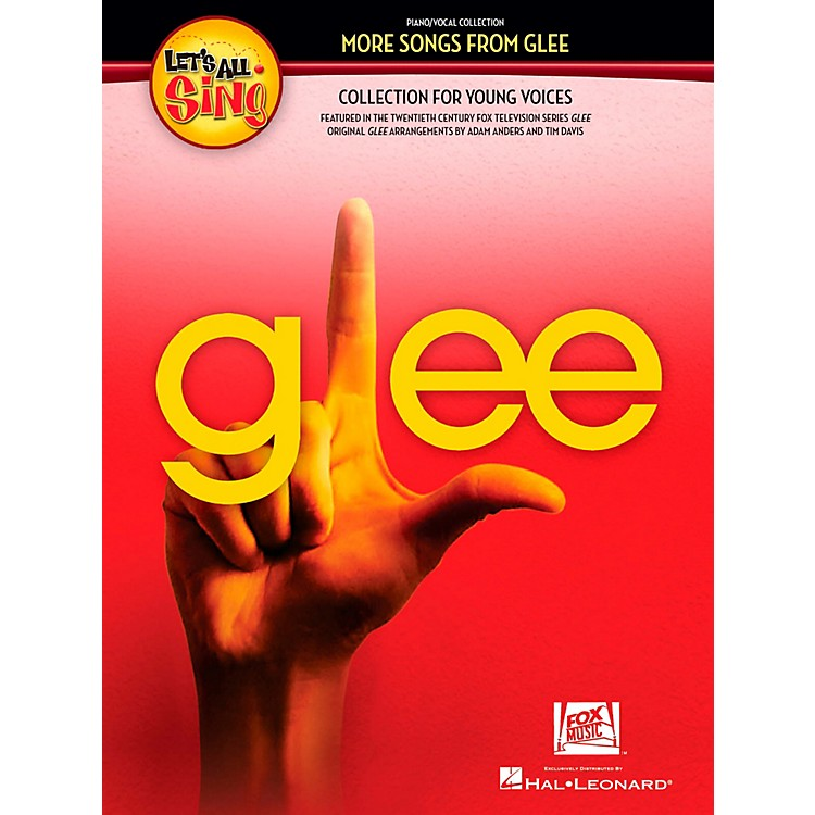 Hal LeonardLet's All Sing More Songs From Glee Collection for Young Voices Performance/Accompaniment CD