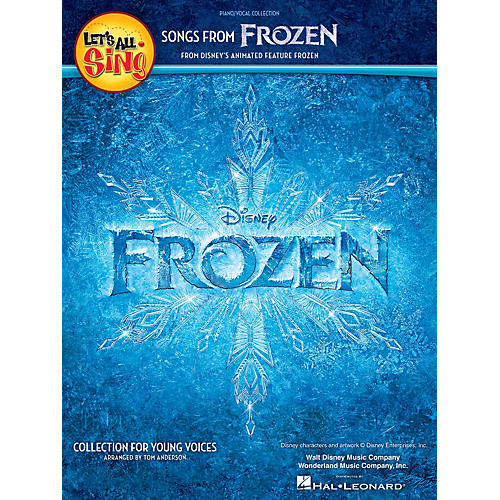 Hal Leonard Let's All Sing Songs from Frozen (Collection for Young Voices) Piano/Vocal Arranged by Tom Anderson-thumbnail