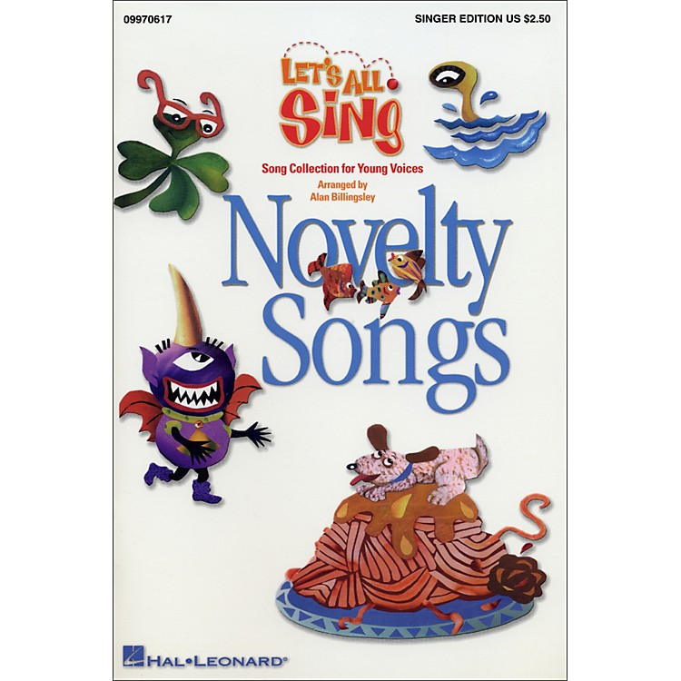 Hal LeonardLet's All Sing...Novelty SongsSinger Edition 10 Pak
