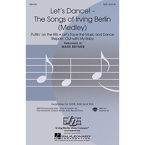 Hal Leonard Let's Dance! - The Songs of Irving Berlin (Medley) SATB arranged by Mark Brymer-thumbnail