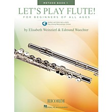 Ricordi Let's Play Flute! - Method Book 1 (Book with Online Audio) Woodwind Method Series Softcover Audio Online