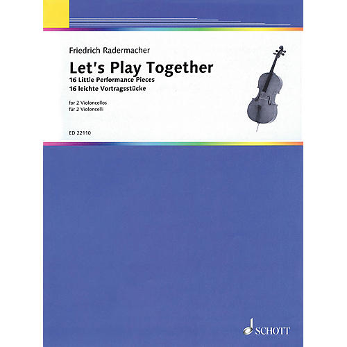 Schott Let's Play Together (16 Little Performance Pieces for 2 Cellos) String Series Softcover-thumbnail