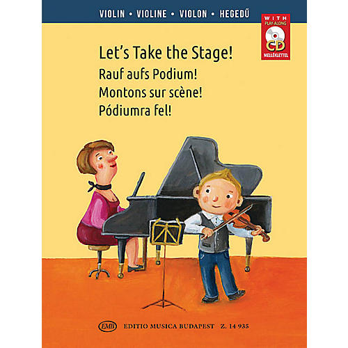 Editio Musica Budapest Let's Take the Stage! (Easy Repertoire Pieces for Young Violinists) EMB Series-thumbnail