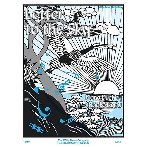Willis Music Letter to the Sky (1 Piano, 4 Hands/Mid to Later Elem Level) Willis Series by Naoko Ikeda-thumbnail