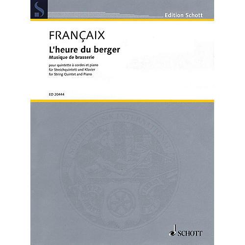 Schott L'heure du berger: Musique de brasserie String Series Softcover Composed by Jean Françaix-thumbnail