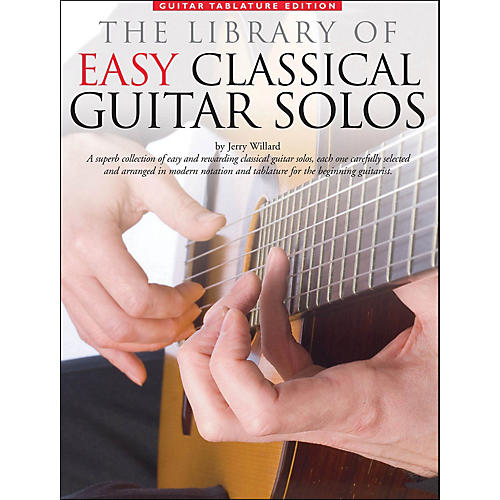 Music Sales Library Of Easy Classical Guitar Solos (Notation & Tablature)-thumbnail