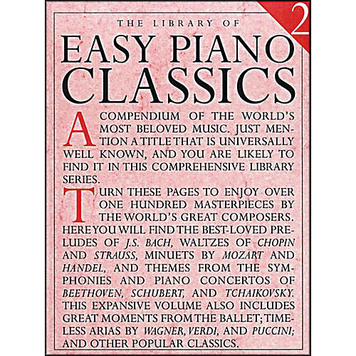 Music Sales Library Of Easy Piano Classics 2-thumbnail