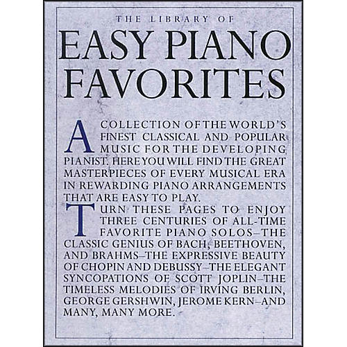Music Sales Library Of Easy Piano Favorites-thumbnail