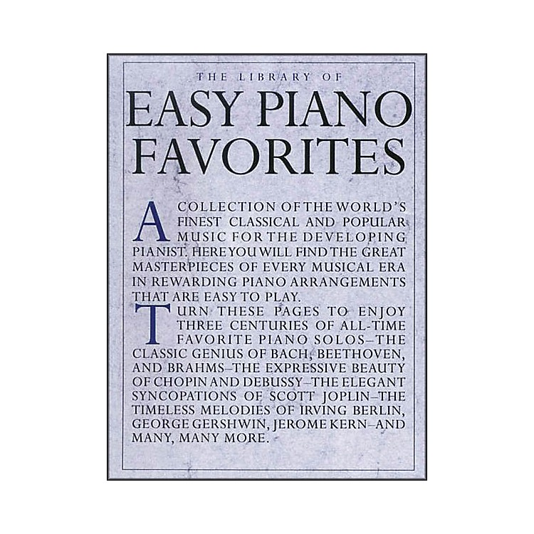 Music SalesLibrary Of Easy Piano Favorites