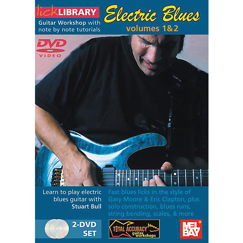Mel Bay Lick Library Electric Blues Volumes 1 and 2 - 2 DVD Set