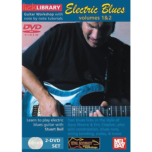 Mel Bay Lick Library Electric Blues Volumes 1 and 2 - 2 DVD Set-thumbnail