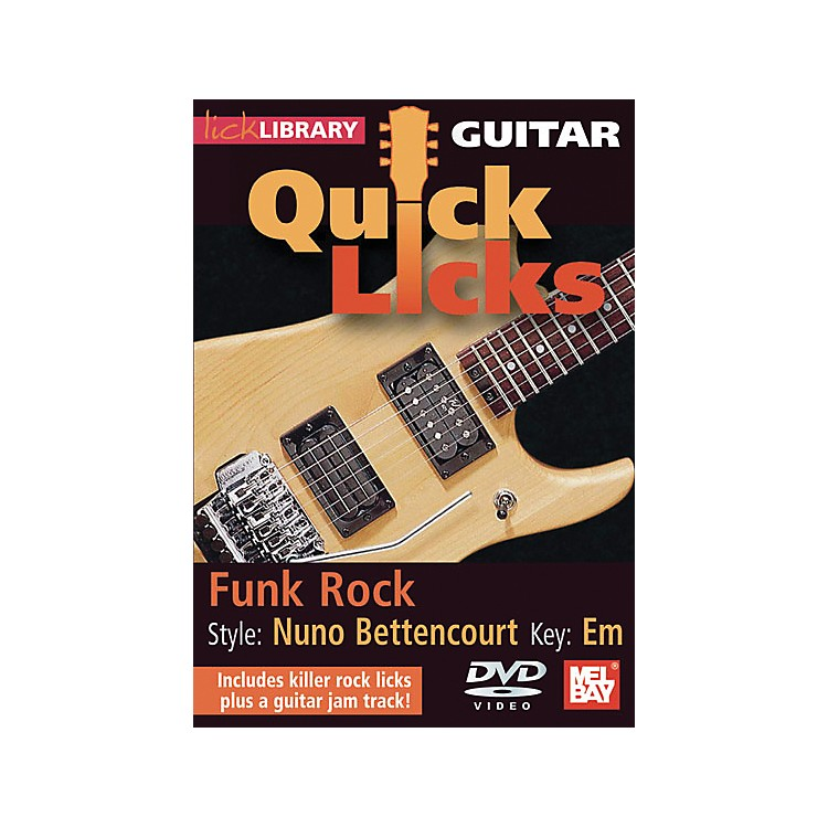 Hal Leonard Lick Library Guitar Quick Licks - Nuno Bettencourt Style: Funk Rock DVD