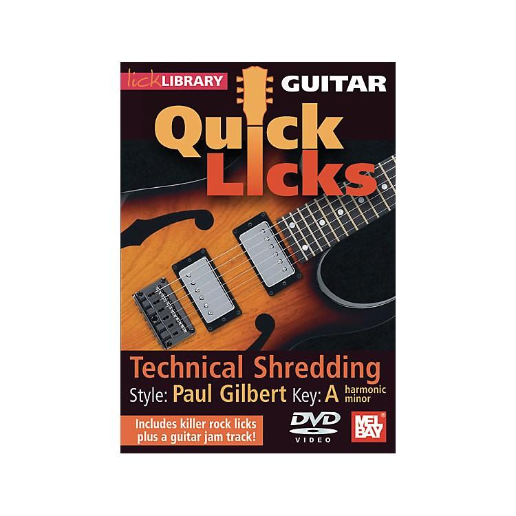Hal LeonardLick Library Guitar Quick Licks - Paul Gilbert Style: Technical Shredding DVD