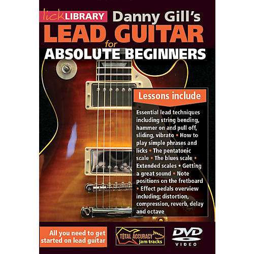 Hal Leonard Lick Library Lead Guitar For Absolute Beginners DVD