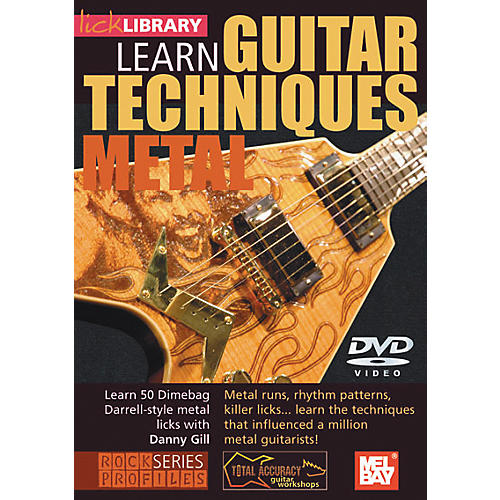 Mel Bay Lick Library Learn Guitar Techniques: Metal Dimebag Darrell Style DVD