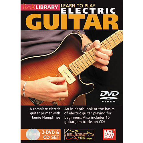 Mel Bay Lick Library Learn To Play Electric Guitar 2 DVD and 1 CD Set-thumbnail
