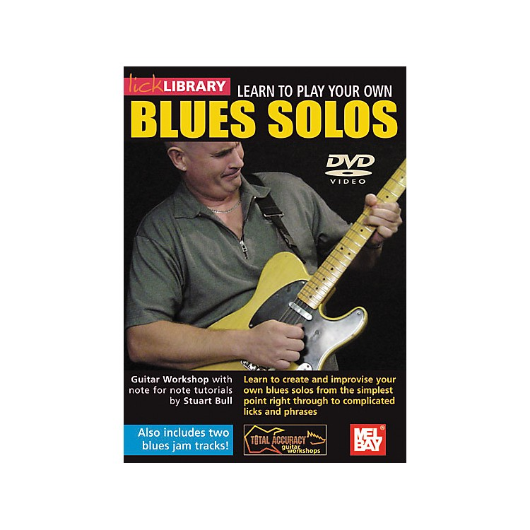 Hal Leonard Lick Library Learn To Play Your own Blues Solos DVD