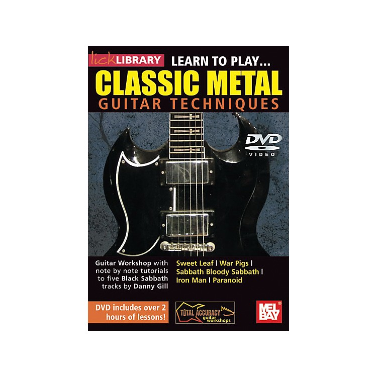 Hal Leonard Lick Library Learn to Play Classic Metal Guitar Technique DVD